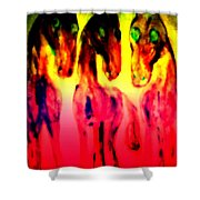 Come Out And Play, Are We Horses Or Are We Snakes  Shower Curtain