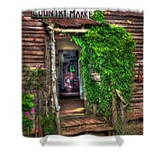 Sharecroppers Country Market Come Right In Shower Curtain by Reid Callaway