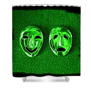 Comedy And Tragedy Masks 3 Shower Curtain