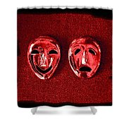 Comedy And Tragedy Masks 4 Shower Curtain