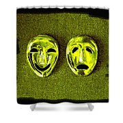 Comedy And Tragedy Masks 6 Shower Curtain