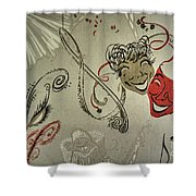 Comedy Tragedy  Shower Curtain
