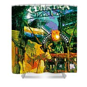 Comerica At Night Shower Curtain
