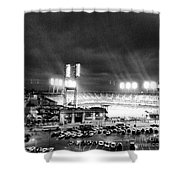 Comerica Park At Night Shower Curtain