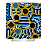 Comets Of Karma Shower Curtain