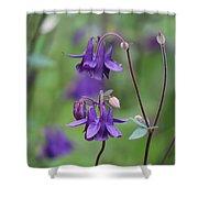 Comfort In Purple Shower Curtain