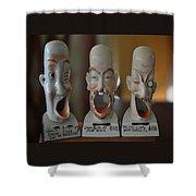 Comical Singing Ashtrays Shower Curtain