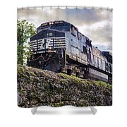 Coming Down The Tracks Shower Curtain