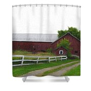 Coming Home - Digital Painting Effect Shower Curtain