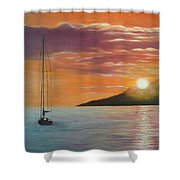 Coming Home English Bay Shower Curtain