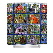 Coming Home Photo Assemblage In Asbury Grove In South Hamilton-massachusetts Shower Curtain