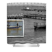 Coming In To Dock Shower Curtain