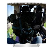 Coming In To Land Shower Curtain