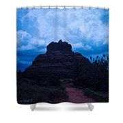 Coming Storm Bell Rock Shower Curtain