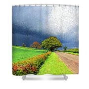 Coming This Way Shower Curtain