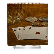 Coming Up Aces Shower Curtain