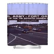 Fort Ord  Commander  Major General Marvin L. Covault  7th Infantry Division 1992 Shower Curtain