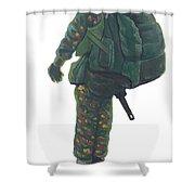 Commando 02 Shower Curtain