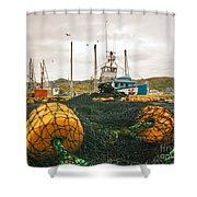 Commercial Fishing In The North Atlantic Shower Curtain