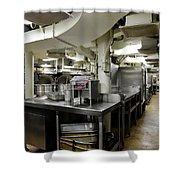 Commercial Kitchen Aboard Battleship Shower Curtain
