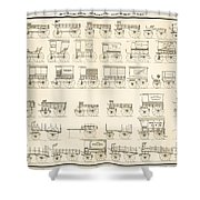 Commercial Wagons  1881 Shower Curtain