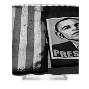 Commercialization Of The President Of The United States Of America In Black And White Shower Curtain