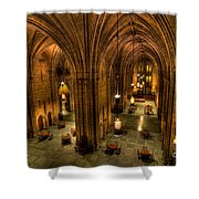 Commons Room Cathedral Of Learning University Of Pittsburgh Shower Curtain
