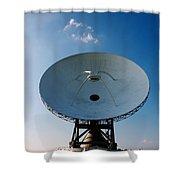 Communicating Via Satellite Dishes. Shower Curtain