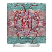 Communication Without Words Shower Curtain