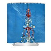 Communications Mast Hua Hin Shower Curtain