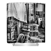 Com'n To Town For Supplies Shower Curtain
