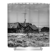 Como In Black And White Shower Curtain