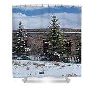 Como Roundhouse Backside Shower Curtain by Ken Smith