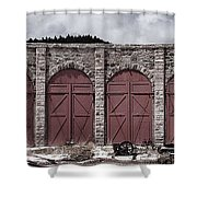Como Roundhouse Shower Curtain by Ken Smith