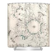Comparative Map Or Chart Of The Worlds Great Rivers Shower Curtain
