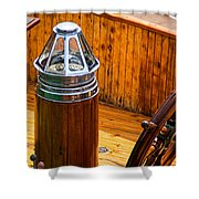 Compass And Bright Work Old Sailboat Shower Curtain