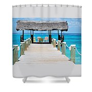 Tranquility At Compass Point, Nassau, Bahamas Shower Curtain