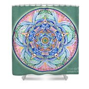Compassion Mandala Shower Curtain