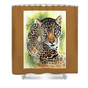 Compelling Shower Curtain by Barbara Keith