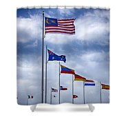 Competing Countries V2 Shower Curtain
