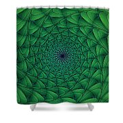 Complex Convexity Cavern Moss And Blue Shower Curtain