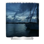 Composed Silence Shower Curtain