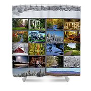 Composite Of Photographs From Various Shower Curtain
