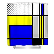 Composition 103 Shower Curtain
