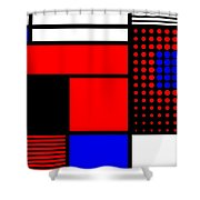 Composition 109 Shower Curtain