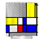 Composition 111 Shower Curtain
