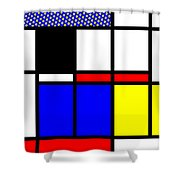 Composition 114 Shower Curtain