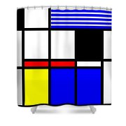 Composition 117 Shower Curtain