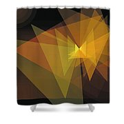 Composition 28 Shower Curtain