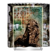 Composition Based On Angkor History Shower Curtain